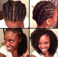 Crotchet Braids Tutorial - Side Cornrows Left Exposed Read the article here - http://www.blackhairinformation.com/general-articles/hairstyles-general-articles/crotchet-braids-tutorial-side-cornrows-left-exposed/