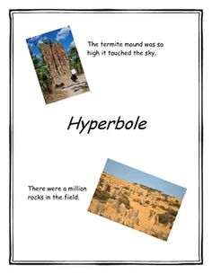 This product includes a lesson plan for teaching hyperboles.  Along with the lesson plan, you'll find  handouts/miniposters with an overview of hyp...