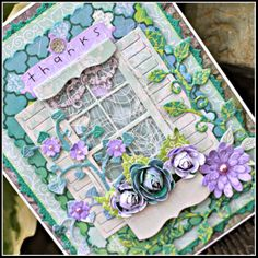 #cheeryld This card today was inspired by the pretty colors of Spring! Dies used: Shuttered Window with Flower Box - FRM151; CardMaker Rectangle Classic - CM1; CardMaker Rectangle Scalloped - CM2; Anastasia Border - B136; Darling Daisies - A196; Ivy Corner Flourish - B315; Rose Leaf Strip - B241; Dancing Doily Lace Border - DL134; Sentiment Frame 1 - B189; Medium Rose - B154; Miniature Rose - B152; Princess Tree - B180; (Continued).. http://www.cheerylynndesigns.com