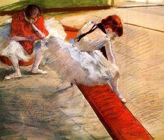Ballerine che riposano Edgar Degas