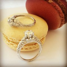 Are these sweet vintage engagement rings your style? #ShaneCoSparkle