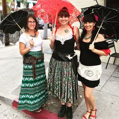 Fiesta inspired look with pretty parasols. From Parasols in Paradise