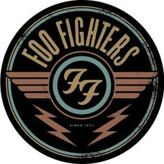 "Foo Fighters - Round Logo Sticker This round Foo Fighters Logo sticker measures approximately 4"" in diameter and is the perfect addition to stick on your guitar case, laptop, drum set, or add to your sticker collection! #sunshinedaydream #hippieshop"