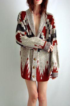 Vtg 70s SOUTHWESTERN Navajo Cardigan SWEATER Jacket SML photo thefamilyvintage's photos - Buzznet ($50-100) - Svpply