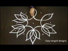 easy lotus rangoli designs with dots for beginners - chukkala muggulu - simple kolam designs Indian Rangoli Designs, Rangoli Border Designs, Rangoli Patterns, Rangoli Ideas, Rangoli Designs With Dots, Rangoli With Dots, Beautiful Rangoli Designs, Henna Designs, Lotus Rangoli