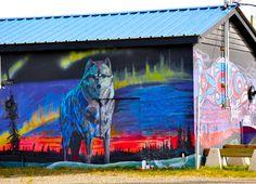 Wolf art in Whitehorse, Yukon