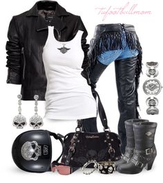 """""""Born to Ride - Bad to the Bone"""" by tufootballmom on Polyvore"""