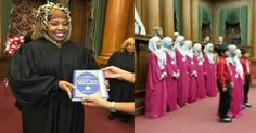 It hasn't even been two full weeks since Islamic terrorists killed 14 innocents on American soil in San Bernardino, yet on the opposite coast, they are celebrating the swearing-in of a black Muslim judge. The progressive's poster woman isn't who they think she is, or perhaps they don't care. Now that her secret is out, it's already too late, and she's right where she wants to be.