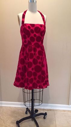 Patricia Field Red Velvet Polka Dot Dress 4 Inspired by Carrie Sex and the City