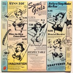 Rolling Stones Some Girls LP Vinyl Record Album by ThisVinylLife