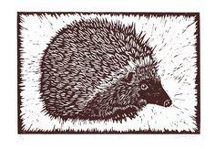 Hedgehog Lino Print