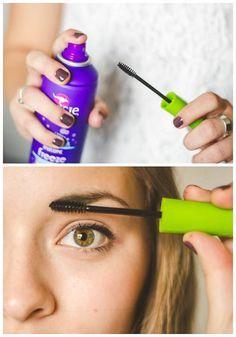 Tried and True Makeup Hacks - Lil' Luna Makeup Hacks makeup hacks mascara Makeup Spray, Make Makeup, Simple Makeup, Beauty Hacks Mascara, Mascara Tips, Rimmel, Beauty Tips Easy, Beauty Tricks, Makeup Tips And Tricks