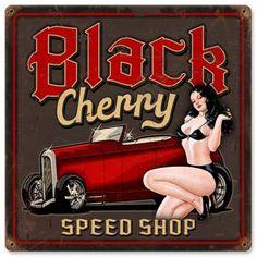 Vintage Metal Signs, Vintage Pins, Vintage Black, Vintage Ideas, Pinstriping, Hot Rods, Truck Tattoo, Gas Monkey Garage, Pin Up Posters