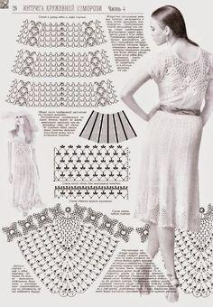 Image result for filet crochet dress free patterns