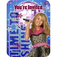 Hannah Montana Rock The Stage Invitations