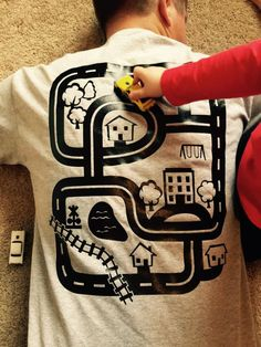 Road Map Back Rub Shirt Great Gift for Dads by MVPaLegacyCompany