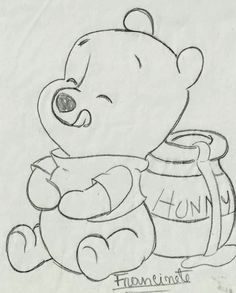 Renata& Little Things: Teddy Bear Puff Baby .- Coisinhas da Renata: Riscos Ursinho Puff Baby… Renata& Little Things: Teddy Bear Puff Baby … - Disney Drawings Sketches, Cute Disney Drawings, Cute Easy Drawings, Art Drawings Sketches Simple, Pencil Art Drawings, Animal Drawings, Drawing Ideas, Drawing Disney, Charcoal Drawings