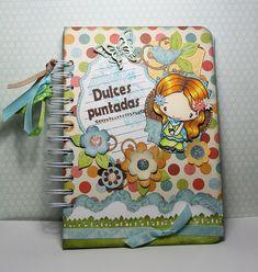 Libreta Dulces Puntadas by Creaciones Aluap, via Flickr                                                                                                                                                                                 Más