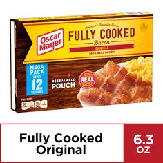 Free 2-day shipping. Buy Oscar Mayer Original Fully Cooked Bacon, 6.3 oz Box at Walmart.com Chocolate Covered Bacon, What Is Healthy, Oscar Mayer, Healthy Nutrition, Healthy Eating, Carbonated Drinks, Just Eat It, Rich In Protein, Mega Pack