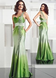 Stunning green wedding dresses ideas 26
