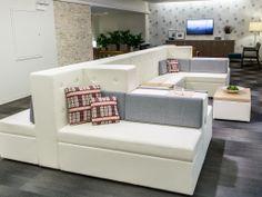 Tangent Modular Lounge by Loewenstein www.maddenbusinessinteriors.com @maddenbusiness #furniture #modern #office