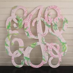 Lilly monogram decorations