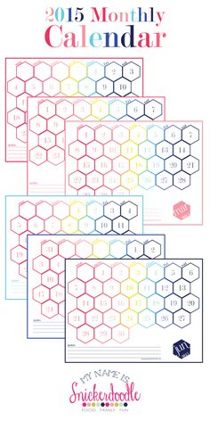 Free Printable for a 2015 Hexagon Calendar!  | My Name Is Snickerdoodle