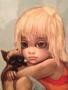 "Keane Paintings Value | Margaret Keane's ""Little Ones"" Painting Print from 1962"