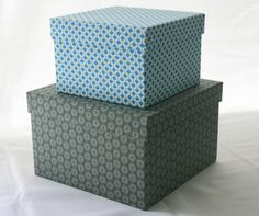 Blue And Gray · Decorative BoxesStorage ...