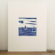 This is an original lino print. It is a limited edition as I have only made 13 prints. I have used oil based inks onto high quality Zerkall print making paper. This print comes in a pure white, professionally cut mount. Linocut Prints, Art Prints, Block Prints, Linoleum Block Printing, Linoprint, Postcard Design, Printmaking, Printing On Fabric, Illustration