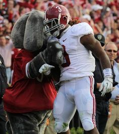 Big AL and Trent Richardson     For Great Sports Stories and Audio Podcasts, Visit our Blog at www.RollTideWarEagle.com