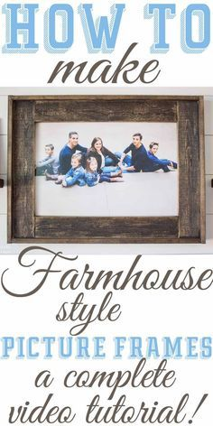 Diy farmhouse inspired wood picture frames pinterest wood diy farmhouse inspired wood picture frames solutioingenieria Images
