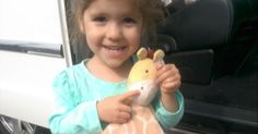 Adorable three-year-old is surprised by her own reaction when she is reunited with a beloved stuffed animal