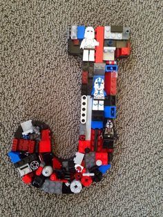 Custom toy brick  letter J made to order by MosaicTreasureBox, $70.00