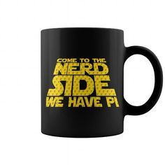 Come To The Nerd Side We Have Pi Mug LIMITED TIME ONLY. ORDER NOW if you like, Item Not Sold Anywhere Else. Amazing for you or gift for your family members and your friends. You'd sure look nice in one of our shirts! Pi Day Shirts, Skate Shirts, Tee Shirts, Cool Tees, Cool T Shirts, Physics T Shirts, New Shirt Design, Geek Tech, Black Coffee Mug