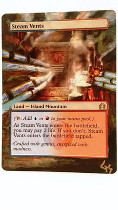 MTG Altered Art Steam Vents Hand Painted Full Art OOAK Magic Card Glendora_Alter #WizardsoftheCoast Hot :~)