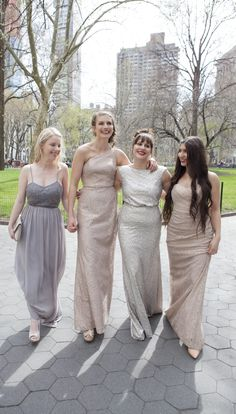 Metallic bridesmaid