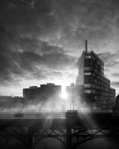 ANIMA Visual Architecture Visualization, Willis Tower, New York Skyline, Exterior, Graphic Design, Landscape, Building, Photography, Architectural Presentation