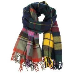 a cacophony of tartans- great with a neutral peacoat..
