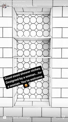47 Super Ideas for bathroom shower tile design shampoos Upstairs Bathrooms, Downstairs Bathroom, Bathroom Renos, Laundry In Bathroom, Bathroom Renovations, Master Bathroom, Bathroom Ideas, Bath Ideas, Bathroom Showers