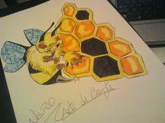 Arte da Cripta Tattoo: Desenho New school abelha