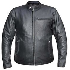 LeatherUp.com: Xelement Urban Armor Men's 'Scoot' Black Leather Jacket with Gun Pockets