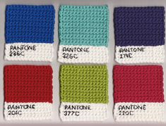 Pantone Knitted Swatches | http://www.nogrey.com.au/blog/pantone-knitted-swatches/