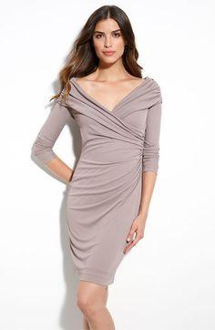 St. John Collection Matte Jersey Off Shoulder Dress