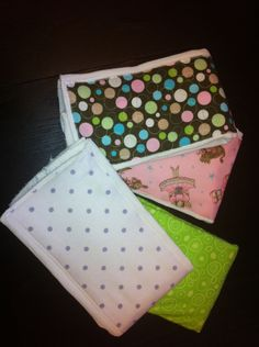 easy sewing project...burp rags for baby shower present