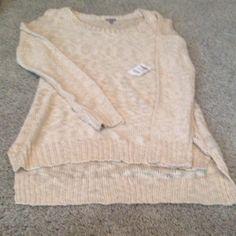 Charlotte Russe knit sweater brand new beige color Charlotte Russe Sweaters Cardigans