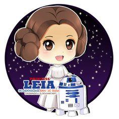 Princess Leia Chibi by crowndolls