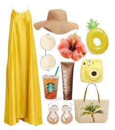 """""""Fun in the Sun"""" by ratcheturtle on Polyvore featuring Erika Cavallini Semi-Couture, Old Navy, Victoria Beckham, Style & Co., Clinique, Fujifilm, Olivia Miller and Big Mouth"""