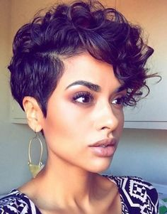 Short Curly Pixie Cuts & Wavy Pixie Cuts for black Women