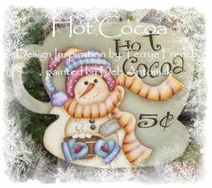 Hot Cocoa by Deb Antonick, email pattern packet by PaintingWithFriends on Etsy